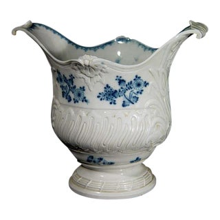 French Rococo Blue & White Porcelain Wine Cooler