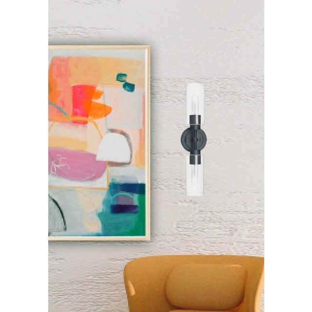 Brooklyn 2 Light Sconce/Vanity, Matte Black For Sale - Image 10 of 10
