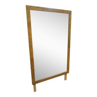 Vintage Mid Century Modern Bernhardt Burled Olive Wood Mirror For Sale