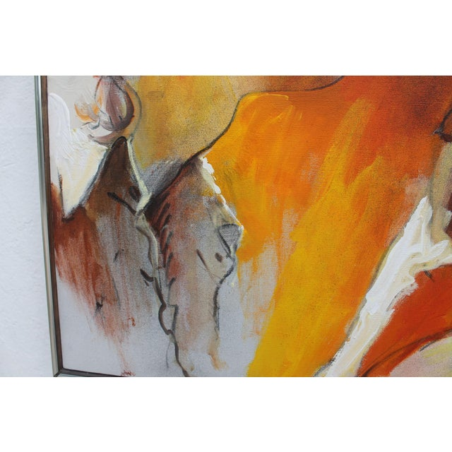 Figural Abstract Reflective Painting by Jonas Girard For Sale - Image 10 of 11