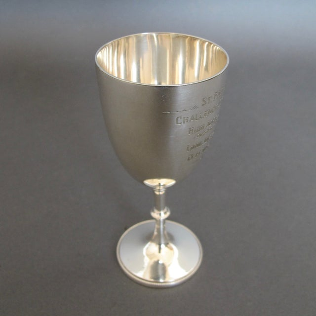 English Silver Plate Goblet Trophy - Image 3 of 6