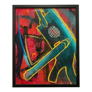 Vito Corriero Framed Original Robot Abstract Painting For Sale