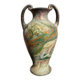 Vintage Marbleized Swirls Urn