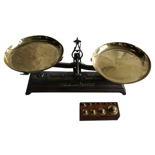 19th Century French Brass Scale For Sale