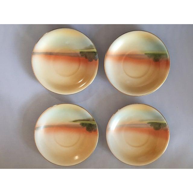 Noritake Handpainted Noritake Windmill Scene Cups & Saucers - Set of 4 For Sale - Image 4 of 11