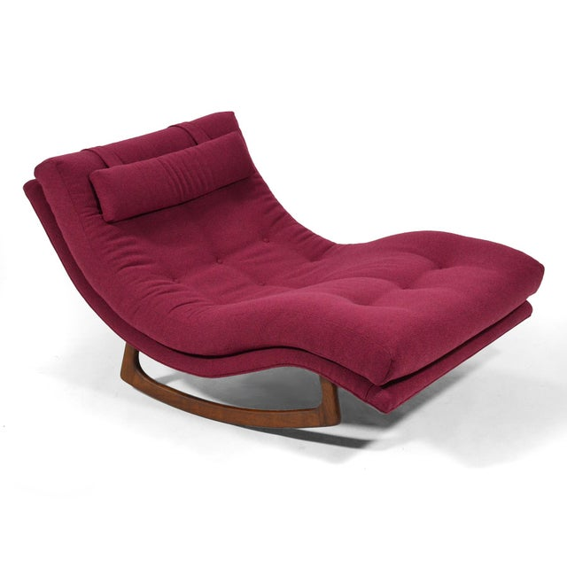 Purple Adrian Pearsall Rocking Chaise by Craft Assoc. For Sale - Image 8 of 10