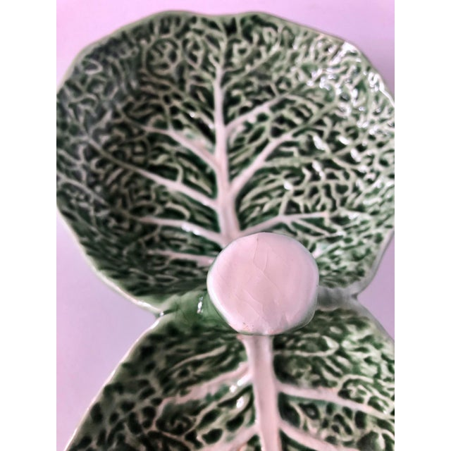 Mid 20th Century Vintage Bordallo Pinheiro Cabbage Serving Dish For Sale - Image 5 of 11