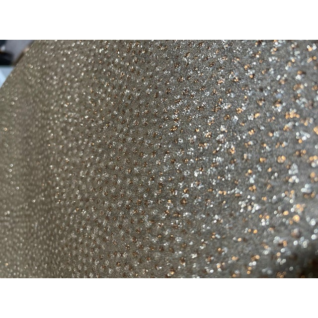 Art Deco Neutral Gold and Silver Glass Beaded Wallpaper For Sale - Image 3 of 4