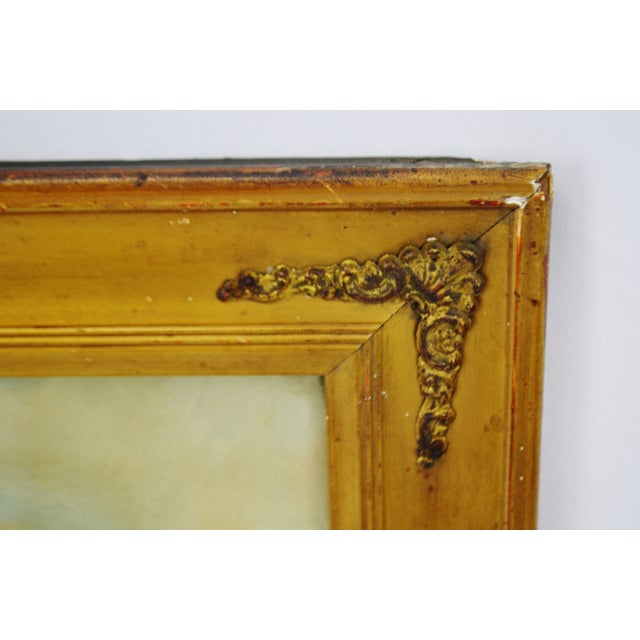 Early Gesso Framed Print of Three Babies - Image 5 of 8