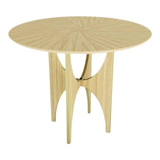 Modern Wood Round Side Table For Sale