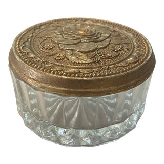 Vintage Powder Box Canister For Sale