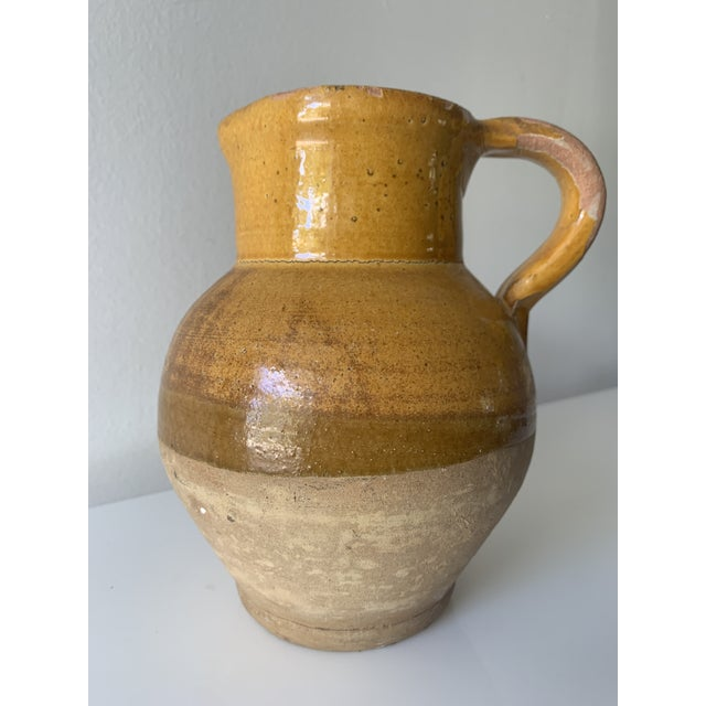 Late 19th Century French Earthenware Pitcher With Yellow Glaze For Sale - Image 10 of 10