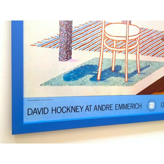 "David Hockney Vintage 1977 Lithograph Print Framed Pop Art Exhibition Poster "" Self Portrait With Blue Guitar "" For Sale In Kansas City - Image 6 of 13"