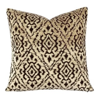 Zimmer + Rohde Stimulation Diamond Pattern Cut Velvet Pillow Cover For Sale