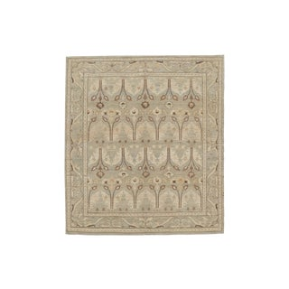 Vintage Beige & Brown Afghan Rug- 8′3″ × 9′8″ For Sale