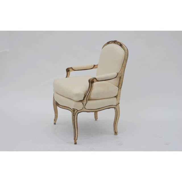 Exceptional Late 19th Century Louis XV Style Armchair For Sale - Image 4 of 10