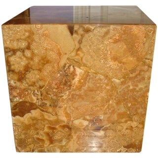 Agate Resin Cube Table For Sale