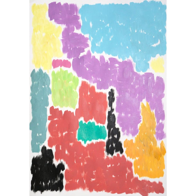 2020s Leaving the City Diptych Abstract Shapes Cityscape Painting by Natalia Roman For Sale - Image 5 of 12