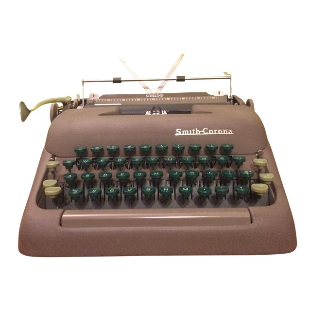 Vintage Smith-Corona Sterling Typewriter & Case - Image 1 of 8