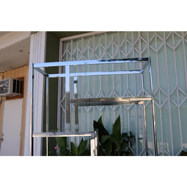 Chrome Modern Etagere For Sale - Image 5 of 11