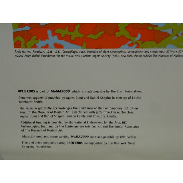 Open Ends Andy Warhol Poster The Museum of Modern Art For Sale - Image 5 of 5