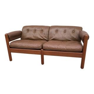 1960s Danish Modern Makael Laursen Teak & Leather Sofa