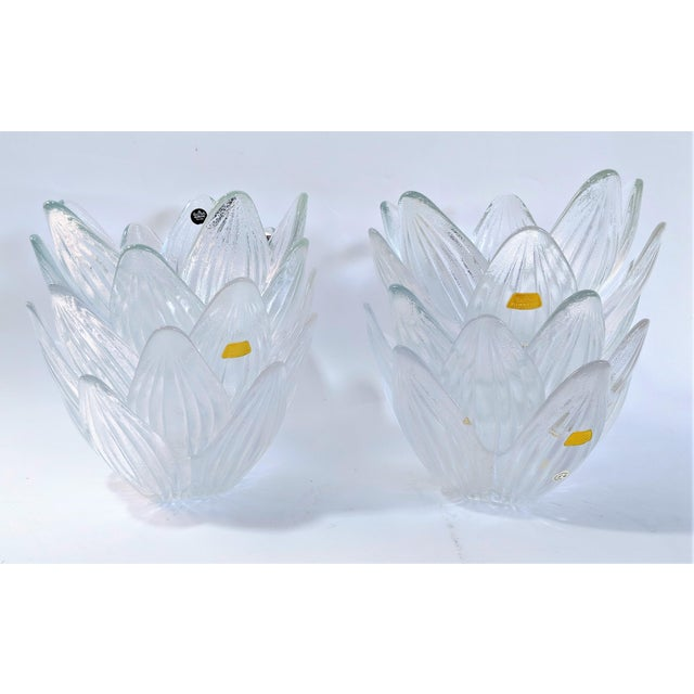 Glass Rosenthal Studio Line Bleikristall German Glass Flower Petal Bowls - Set of 10 For Sale - Image 7 of 13
