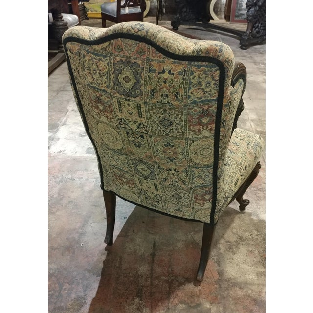 19th Century Victorian Tapestry Chairs - A Pair For Sale - Image 9 of 10