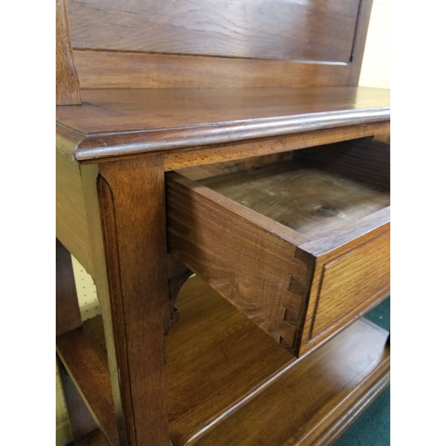 Antique Oak Dessert Server For Sale - Image 12 of 13