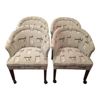 2000s Vintage Harden Furniture Game Chairs - Set of 4 For Sale