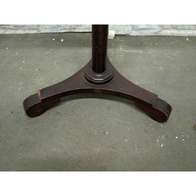 American Classical Tindale Carved Mahogany Music Stand For Sale - Image 3 of 7