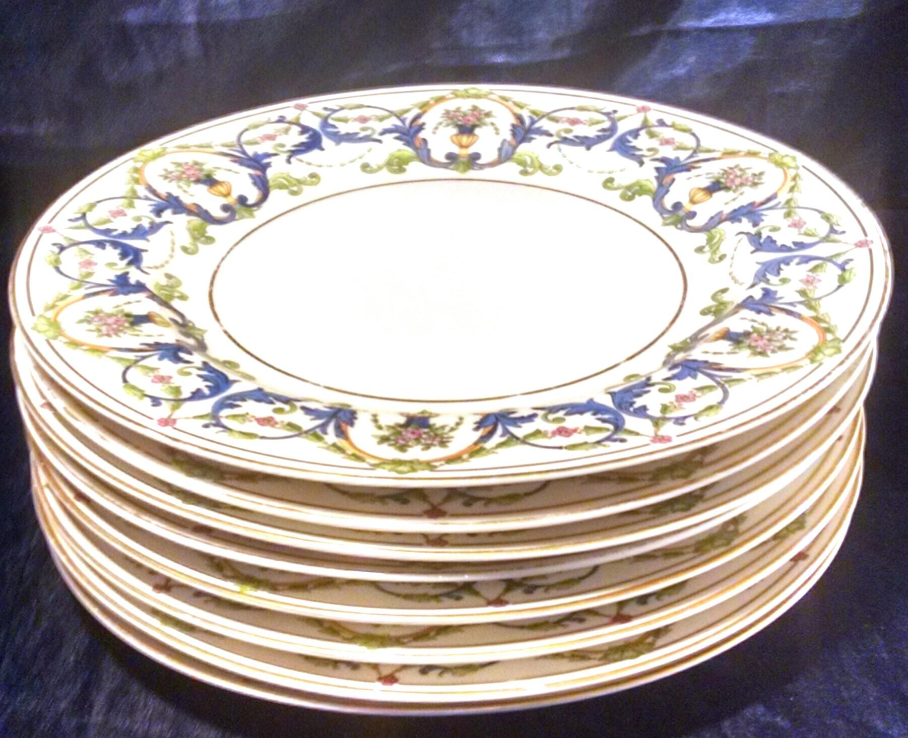 Rosenthal Selb Bavaria Gold Trim Dinner Plates - Set of 8 - Image 3 of 9  sc 1 st  Chairish : cheap dinner plate sets - pezcame.com