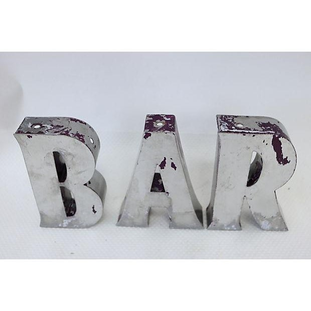 """Vintage English """"Bar"""" Marquee Letters - Image 3 of 4"""