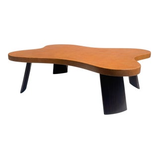 """""""Cloud"""" Cork and Mahogany Coffee Table For Sale"""