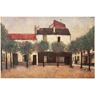 "Rare 1947 Maurice Utrillo ""Place De Montigny"", First Edition Parisian Impressionist Lithograph For Sale"