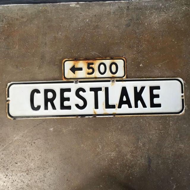 Vintage Enamel Street Sign - Crestlake - Image 2 of 4