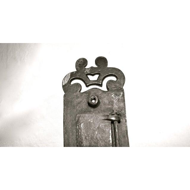 Metal Cast Iron Nouveau Knocker W/Letter Slot For Sale - Image 7 of 10
