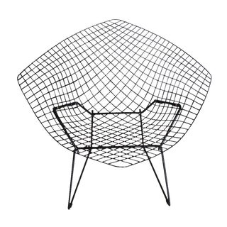 Vintage Black Knoll Bertoia Diamond Lounge Chair