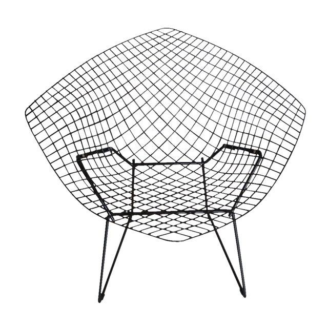 Vintage Black Knoll Bertoia Diamond Lounge Chair For Sale