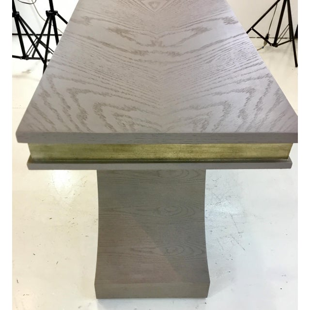 Global Views Global Views Modern Gray and Champagne Silver Link Console Table For Sale - Image 4 of 6