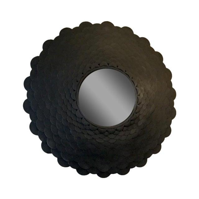 Round Bronze Scale Mirror For Sale