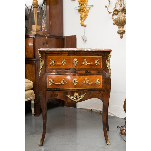 Louis XV Style Two-Drawer Commode With Marble Top, 20th Century For Sale - Image 10 of 10