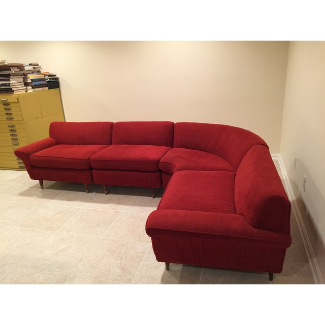 Mid-Century Four-Piece Sectional - Image 3 of 4