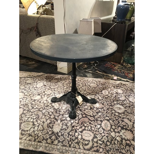 French Zinc Top Bistro Table For Sale - Image 12 of 12
