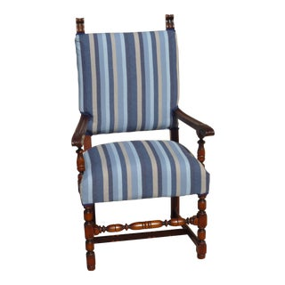Vintage Striped Armchair
