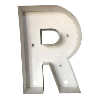 """Large Refurbished Industrial Letter """"R"""""""
