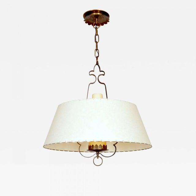 1940s Alfred Muller Ceiling Lamp, Switzerland, 1940s For Sale - Image 5 of 5