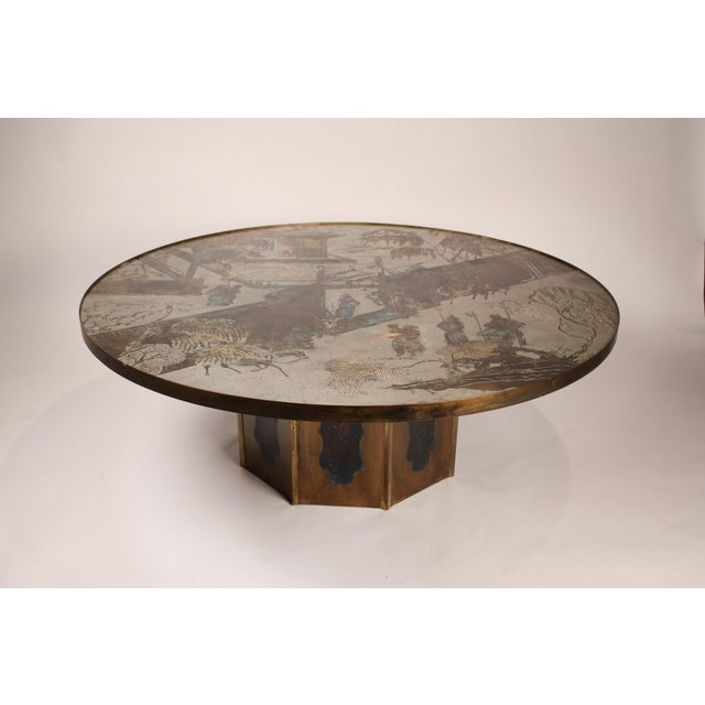 """Large Bronze """"Chan"""" Cocktail Table by Philip & Kelvin Laverne For Sale - Image 10 of 10"""