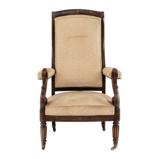 French Charles X Rosewood Arm Chair For Sale