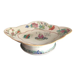 """19th Century Chinese Famille Rose """"Wu Shuang Pu"""" Pedestal Bowl, Qing Dynasty For Sale"""